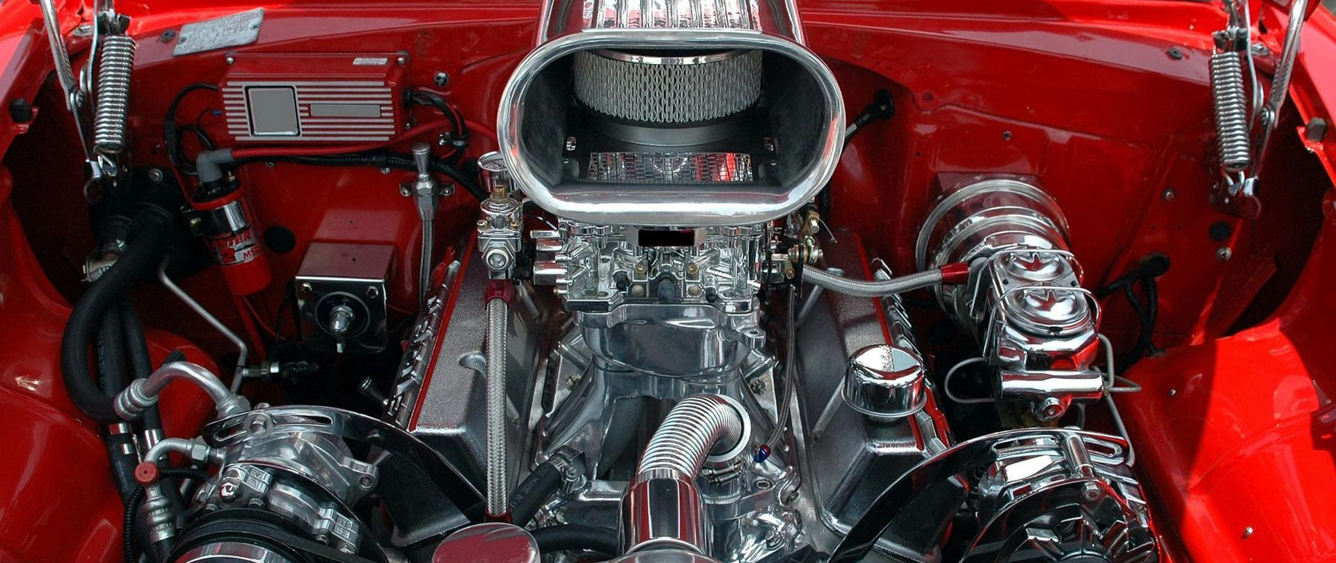 Clean muscle car engine.