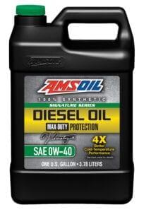AMSOIL 0W-40 synthetic diesel motor oil