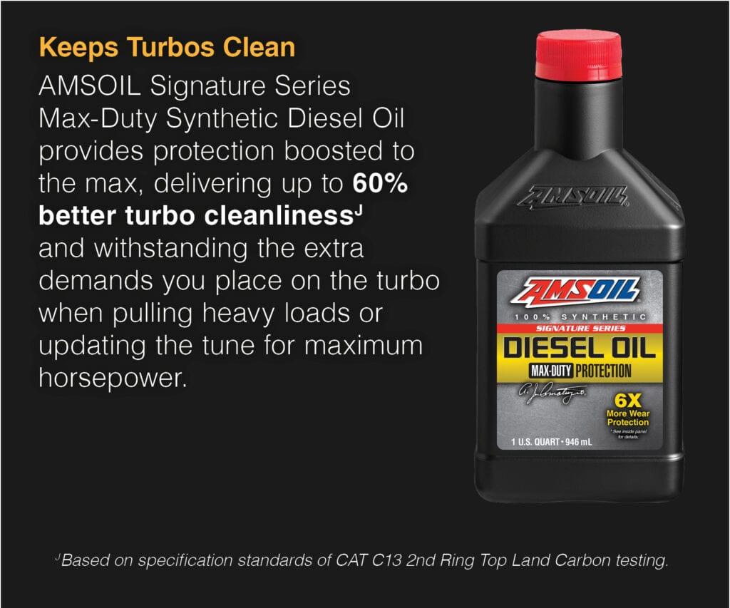 AMSOIL Signature Series keeps turbos clean