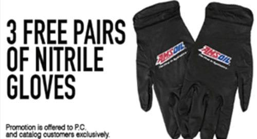 free nitrile gloves promotion