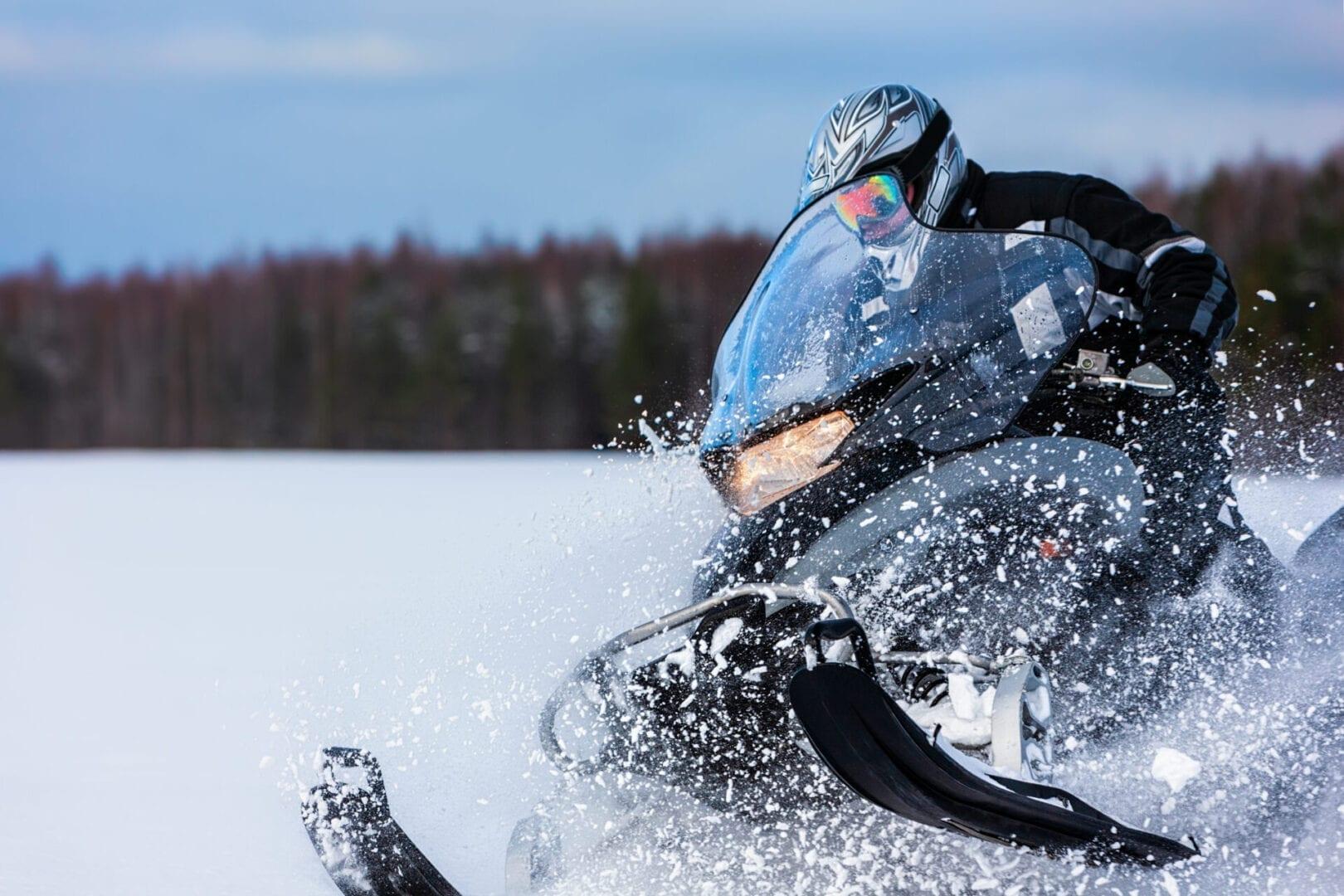 Snowmobile using AMSOIL