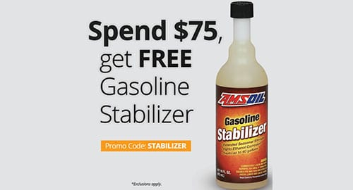 Free gasoline stabilizer promotion
