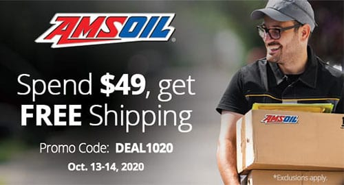 AMSOIL free shipping promotion